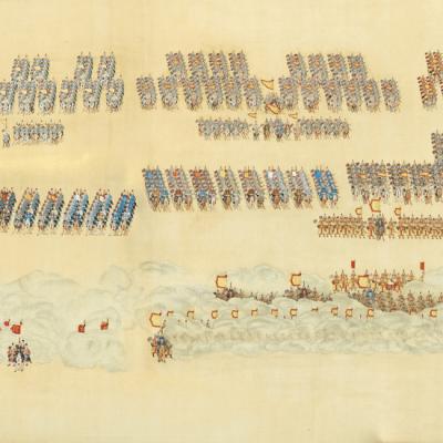 Enchère record : La Grande Revue, IV : Manœuvres militaires, époque Qianlong (1736-1795)