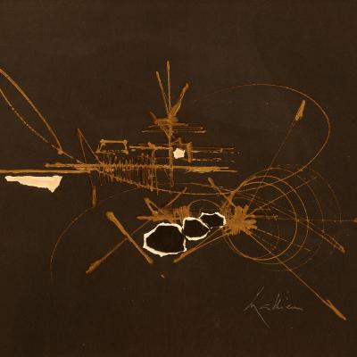 Georges MATHIEU (1921-2012). Colapte.