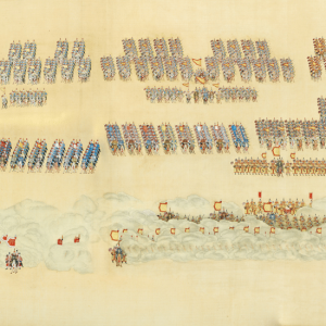 « The Great Review, IV : military maneuver ». Time QIANLONG (1736-1795).